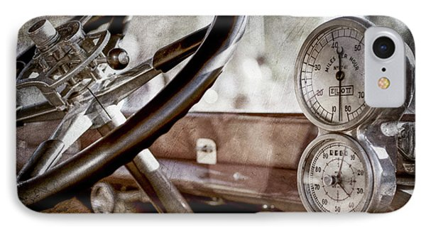 IPhone Case featuring the photograph 1914 Rolls-royce 40 50 Silver Ghost Landaulette Steering Wheel -0795ac by Jill Reger
