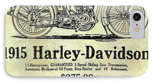 1915 Harley Davidson Advertisement IPhone Case