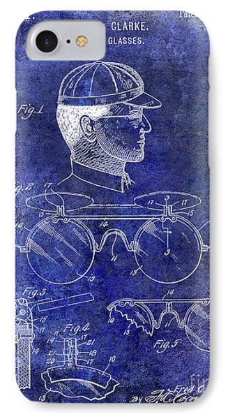 1916 Sunglasses Patent Blue IPhone Case by Jon Neidert