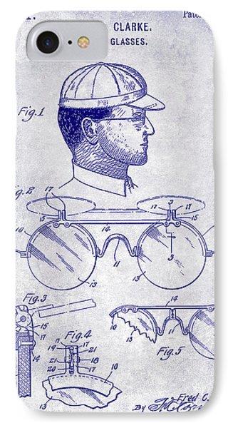 1916 Sunglasses Patent Blueprint IPhone Case by Jon Neidert
