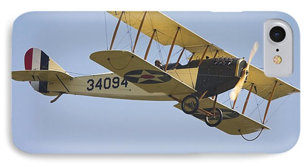1917 Curtiss Jn-4d Jenny Flying Canvas Photo Poster Print IPhone Case by Keith Webber Jr