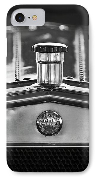 1917 Winton Six-33 Sport Touring Hood Ornament 2 Phone Case by Jill Reger