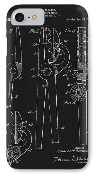 1918 Blacksmith's Tongs Patent IPhone Case by Dan Sproul