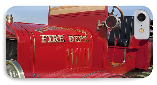1919 Volunteer Fire Truck Phone Case by Jill Reger