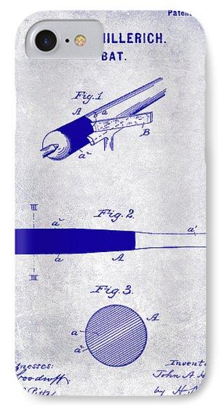 1920 Baseball Bat Patent Blueprint IPhone Case by Jon Neidert