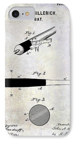 1920 Baseball Bat Patent IPhone Case by Jon Neidert