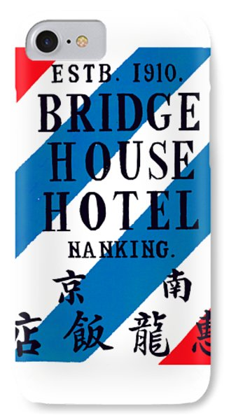 IPhone Case featuring the painting 1920 Bridge House Hotel Nanking China by Historic Image