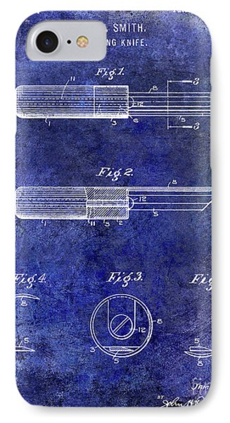 1920 Paring Knife Patent Blue IPhone Case