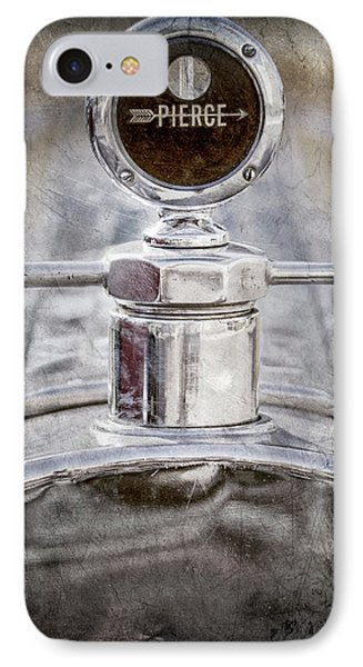 IPhone Case featuring the photograph 1920 Pierce-arrow Model 48 Coupe Hood Ornament -2829ac by Jill Reger