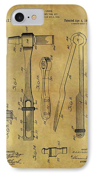 1922 Blacksmith Tools Patent IPhone Case by Dan Sproul