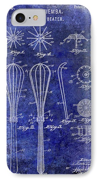 1922 Egg Beater Patent Blue IPhone Case