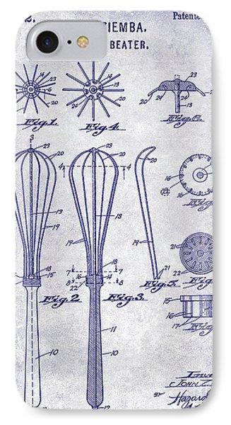 1922 Egg Beater Patent Blueprint  IPhone Case