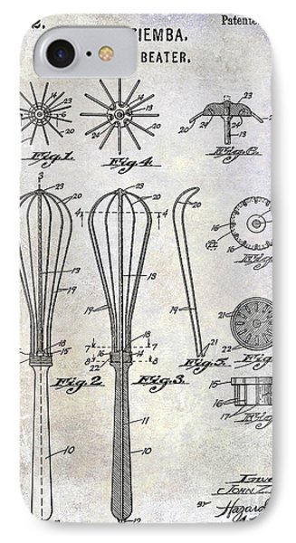 1922 Egg Beater Patent IPhone Case