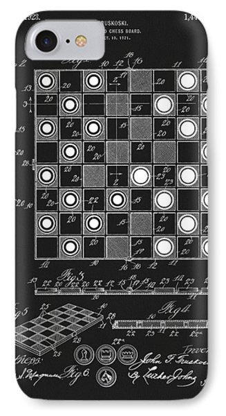 1923 Checkers And Chess Board IPhone Case by Dan Sproul