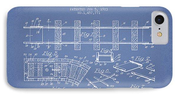 1923 Toy Railway Patent - Light Blue IPhone Case