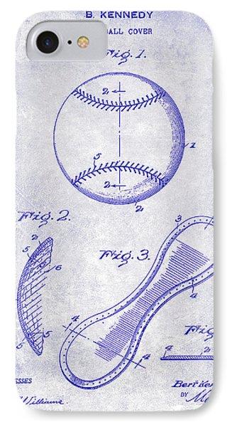 1924 Baseball Patent Blueprint  IPhone Case by Jon Neidert