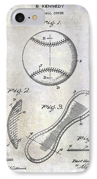 1924 Baseball Patent IPhone Case by Jon Neidert