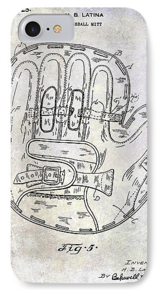 1925 Baseball Glove Patent IPhone Case by Jon Neidert