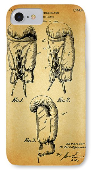 1925 Boxing Glove Patent IPhone Case by Dan Sproul
