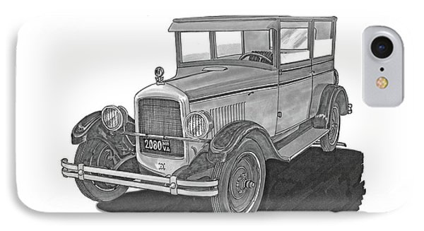 1925 Jewett 2 Door Touring Sedan IPhone Case by Jack Pumphrey