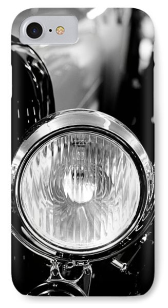 1925 Lincoln Town Car Headlight IPhone 7 Case by Sebastian Musial