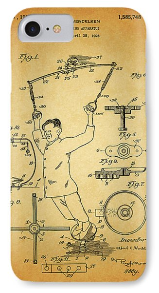 1926 Exercise Machine Patent IPhone Case by Dan Sproul
