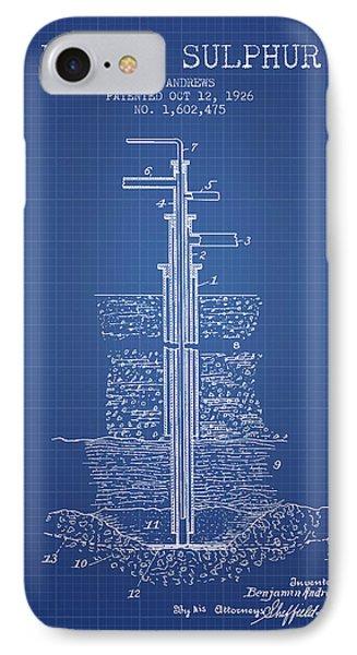 1926 Mining Sulphur Patent En37_bp IPhone Case by Aged Pixel