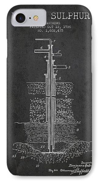 1926 Mining Sulphur Patent En37_cg IPhone Case