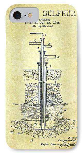 1926 Mining Sulphur Patent En37_vn IPhone Case by Aged Pixel