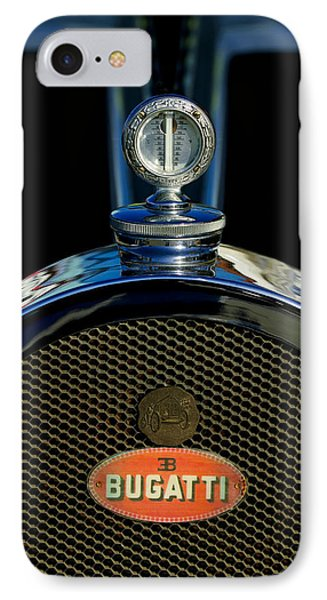 1927 Bugatti Replica Hood Ornament Phone Case by Jill Reger
