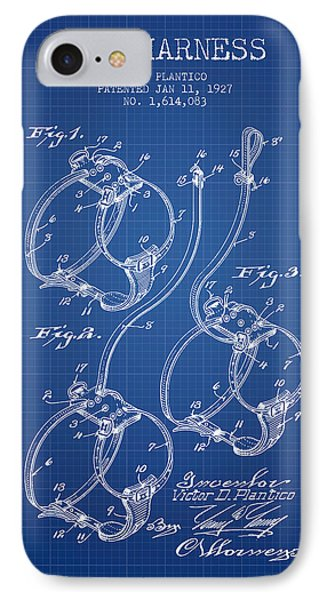 1927 Dog Harness Patent - Blueprint IPhone Case