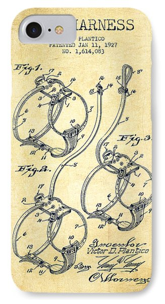 1927 Dog Harness Patent - Vintage IPhone Case