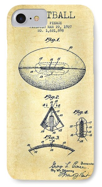 1927 Football Patent - Vintage IPhone Case by Aged Pixel