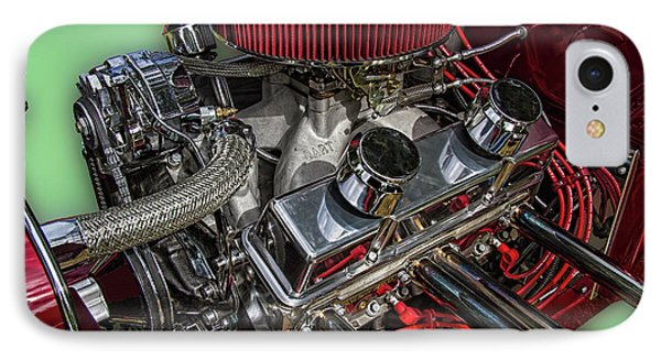 1927 Ford Hot Rod Engine IPhone Case by Nick Gray