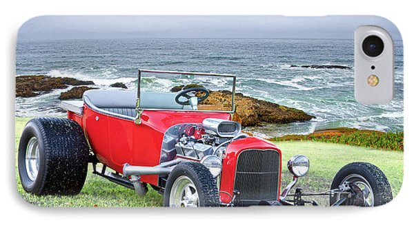 1927 Ford T Bucket Roadster 'on The Greens' IPhone Case by Dave Koontz