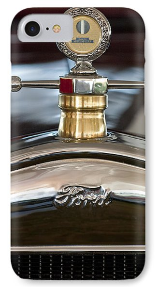 1927 Ford T Roadster Hood Ornament IPhone Case by Jill Reger