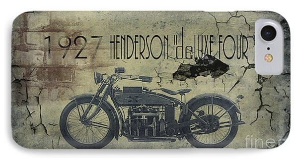 Motorcycle iPhone 7 Case - 1927 Henderson Vintage Motorcycle by Cinema Photography