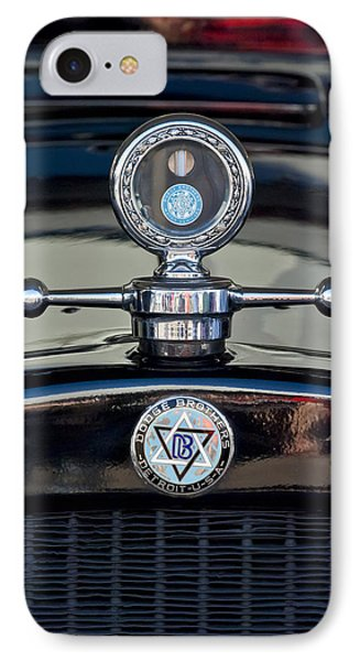 1928 Dodge Brothers Hood Ornament IPhone Case by Jill Reger