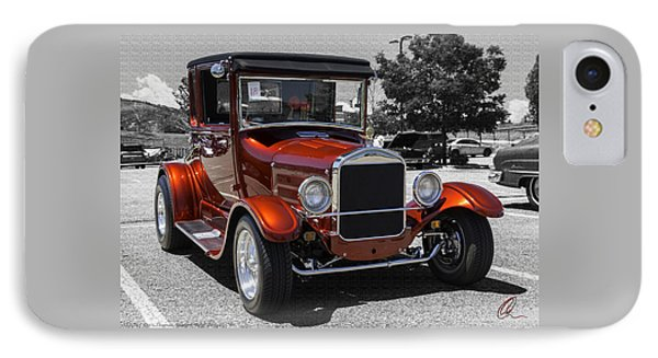 1928 Ford Coupe Hot Rod IPhone Case by Chris Thomas