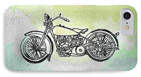 1928 Harley Davidson Motorcycle - Abstract IPhone Case by Scott D Van Osdol