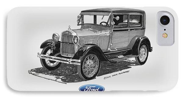 Model A Ford 2 Door Sedan Phone Case by Jack Pumphrey