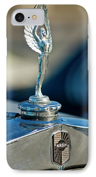 1928 Nash Coupe Hood Ornament Phone Case by Jill Reger