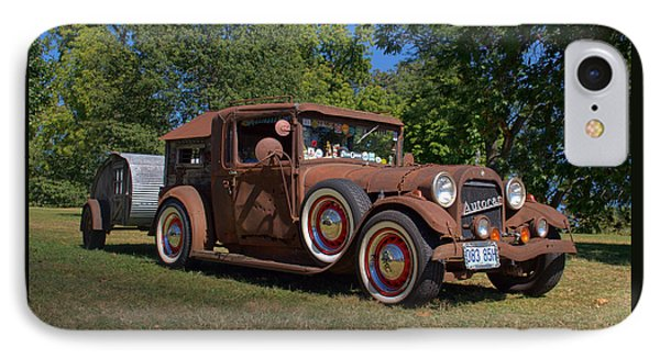 IPhone Case featuring the photograph 1928 Oldsmobile Camper Special by Tim McCullough