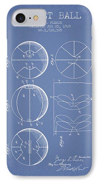 1929 Basket Ball Patent - Light Blue IPhone Case