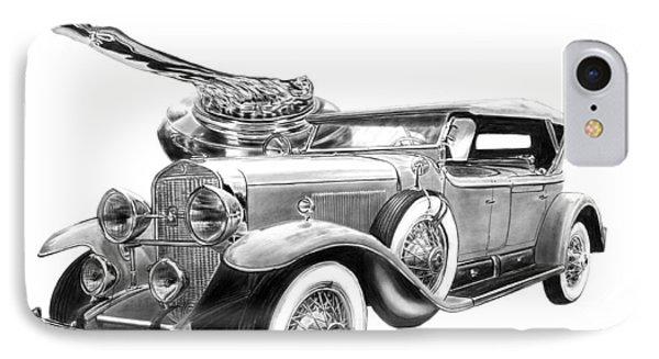 1929 Cadillac  IPhone Case by Peter Piatt