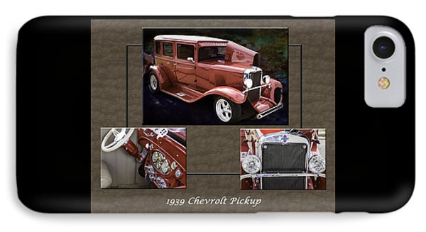 1929 Chevrolet Classic Car Automobile Color Red 3557.02 IPhone Case by M K  Miller