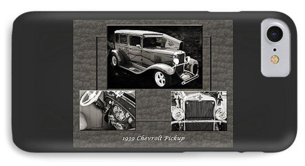1929 Chevrolet Vintage Classic Car Automobile Sepia 3557.01 IPhone Case