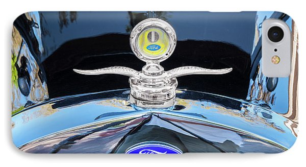 IPhone Case featuring the photograph 1929 Ford Model A Hood Ornament  by Rich Franco