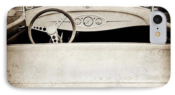 1929 Ford Model A Roadster -0040s IPhone Case by Jill Reger