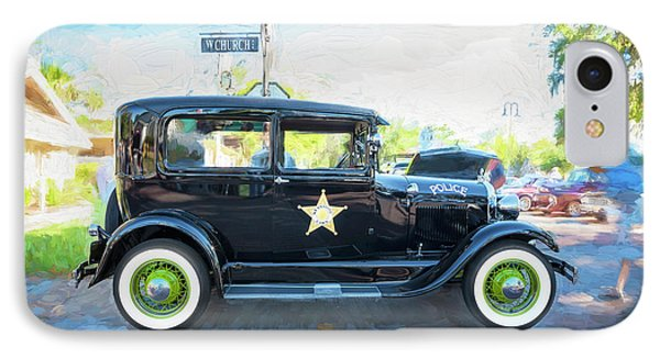 IPhone Case featuring the photograph 1929 Ford Model A Tudor Police Sedan  by Rich Franco